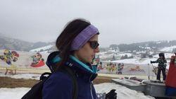Tuta da sci e occhiali, Virginia Raggi in vacanza