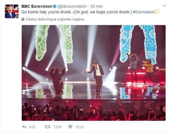 Bbc Eurovision, che gaffe su Gabbani. I social insorgono e il tweet