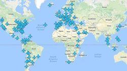 Le password del wifi degli aeroporti di tutto il mondo in una mappa