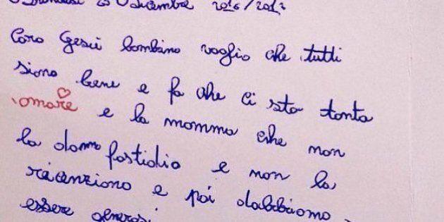 Sofia, 8 anni, nella sua letterina di Natale si rivolge a Gesù Bambino: chiede solo che la mamma non...