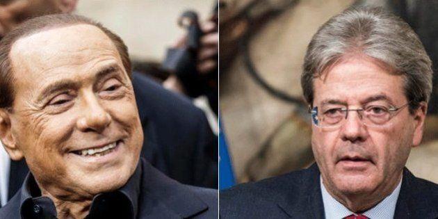 Silvio Berlusconi a Paolo Gentiloni: