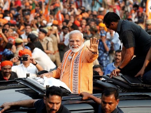 Narendra Modi Holds Massive Roadshow In Varanasi, Day Before Filing
