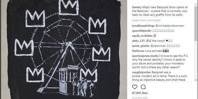I due nuovi graffiti di Banksy sono un omaggio a Basquiat (per un'ottima