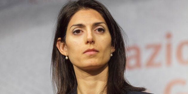 Mayor of Rome Virginia Raggi opens a station at San Giovanni, on Rome's new Metro C line, whose construction...