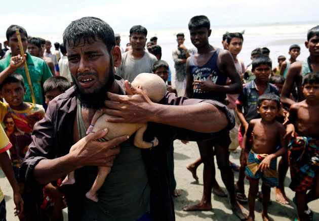 ATTENTION EDITORS - VISUAL COVERAGE OF SCENES OF INJURY OR DEATH Nasir Ahmed, a Rohingya refugee man...