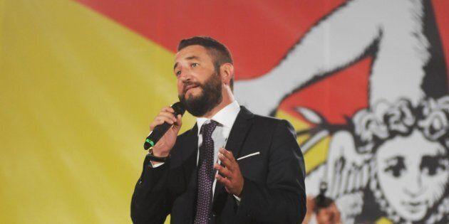Il candidato alla presidenza della Regione siciliana del M5S Giancarlo Cancelleri durante la presentazione...
