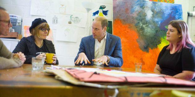 Britain's Prince William, Duke of Cambridge visits the Spitalfields Crypt Trust in St Leonard's Church,...