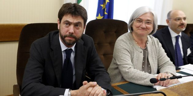 Juventus president Andrea Agnelli attends at the Italian Parliament's Anti-Mafia Commission in Rome,...