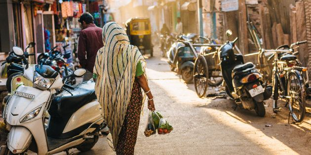 Afternoon in a crowded street of Jodhpur's Blue