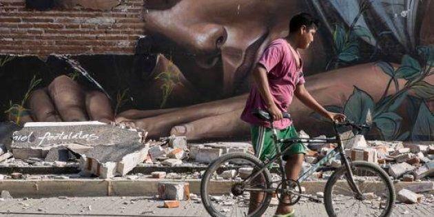 Lo Stato di Oaxaca, Messico, devastato dal terremoto di magnitudo 8.2 del 7