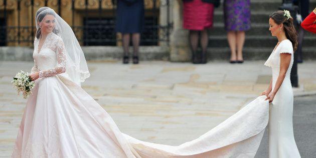 7b12314e8acf Kate Middleton ha indossato un secondo abito da sposa nel giorno del  matrimonio