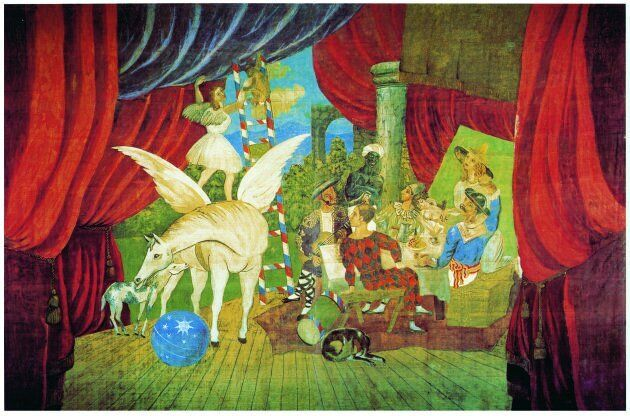 Sipario per il balletto Parade, 1917 Tempera su tela,1050 x 1640 cm Musée National d'Art Moderne Centre...
