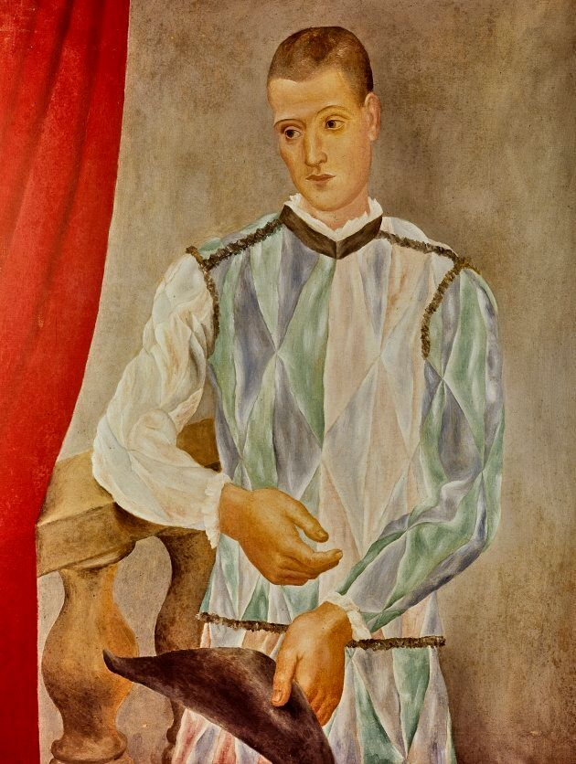 Arlequin (Léonide Massine) [Arlecchino (Léonide Massine)], 1917 Olio su tela,117 x 89,5 cm Barcellona,...