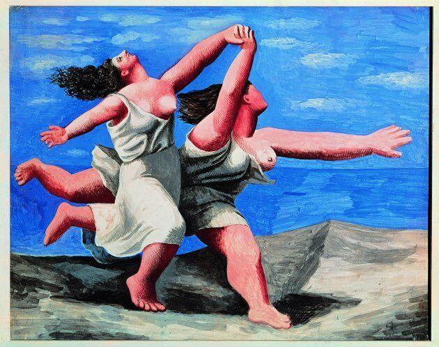 Deux femmes courant sur la plage (La course) [Due donne che corrono sulla la spiaggia (La corsa)], 1922Gouache...