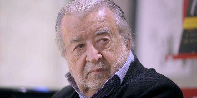 BOLOGNA, ITALY - MARCH 27: Italian movie director Giuseppe 'Pupi' Avati attends the presentation of his...