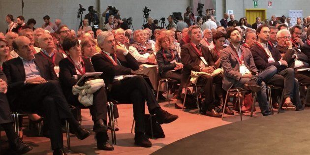 Assemblea di Articolo 1 Mdp, con Massimo D'Alema, Pierluigi Bersani, Roberto Speranza e Alfredo D'Attorre...