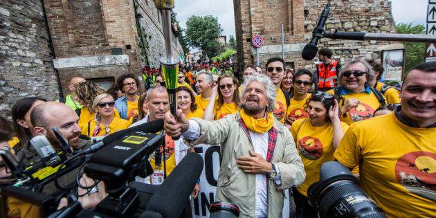 20 maggio 2017. Assisi, Marcia del Movimento 5 stelle per il reddito di