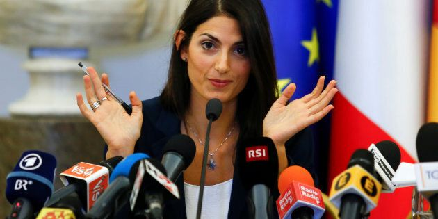 Rome's new mayor Virginia Raggi talks during a news conference in Rome Italy, September 21, 2016. REUTERS/Remo