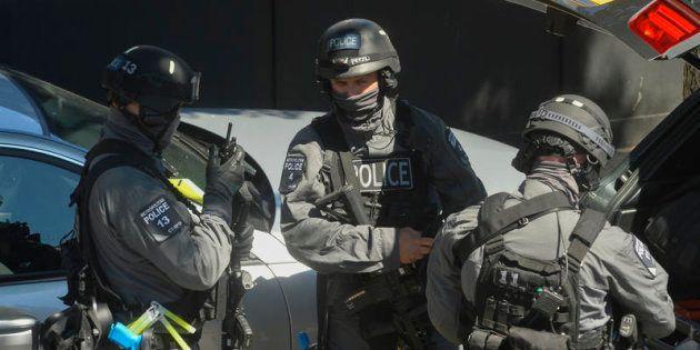 24/06/2015 Londra.Polizia e forze speciali prendono parte a una simulazione di attentato terroristico...