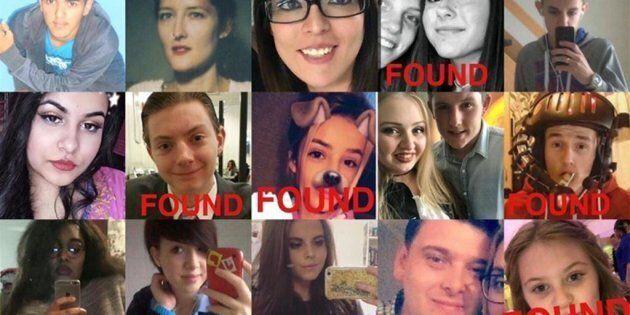 Con l'hashtag #MissingInManchester i genitori sui social cercano i figli dopo