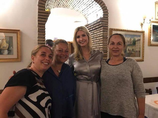 Ivanka Trump vede la foto di Chinaglia al ristorante romano e chiede: