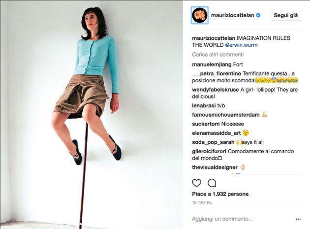 Maurizio Cattelan sbarca su Instagram ed è l'ennesima provocazione dell'irriverente
