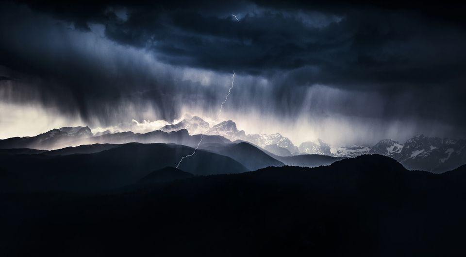 Tempesta sul monte Triglav,