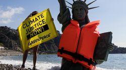 Greenpeace al G7 di Taormina scomoda la Statua della Libertà per una buona