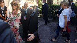 Melania e Brigitte: look opposti nel secondo giorno da first lady a