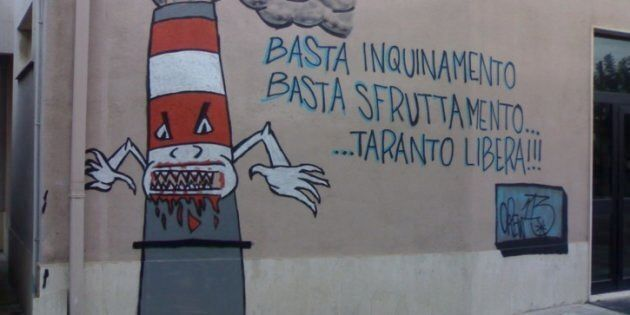 Un murales a Taranto presso l'Istituto Fermi inerente la questione