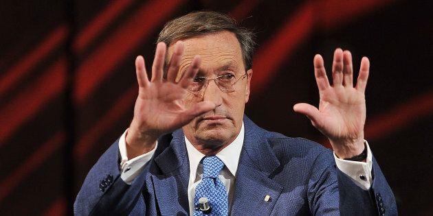 MILAN, ITALY - DECEMBER 09: Gianfranco Fini attends 'Che Tempo Che Fa' Italian TV Show on December 9,...