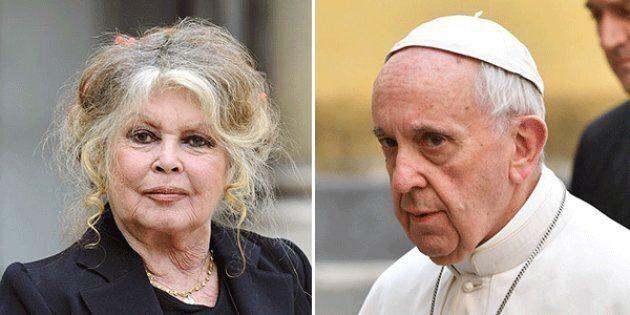 Brigitte Bardot rimprovera il Papa: