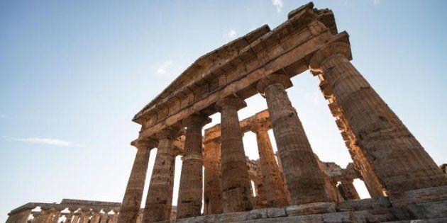Il parco archeologico di Paestum. ANSA/CESARE
