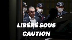 Libéré sous caution, Carlos Ghosn est sorti de sa prison à