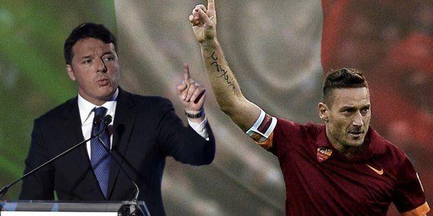 C'è solo un capitano, anzi due: così Matteo Renzi viene paragonato a Francesco