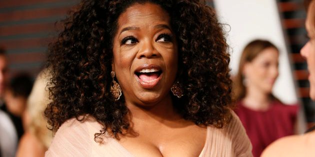 Oprah Winfrey arrives at the 2015 Vanity Fair Oscar Party in Beverly Hills, California, U.S. on February...