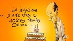 Makkox si ricorda che oggi è anche il compleanno di Bersani (e gli fa fare gli auguri da