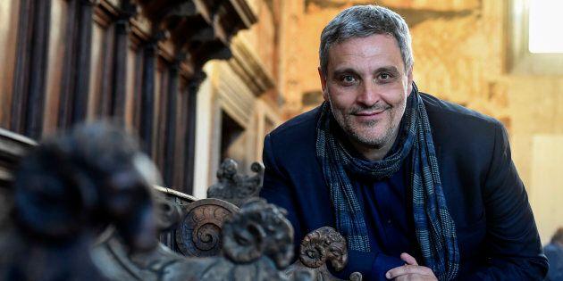 NAPLES, CAMPANIA, ITALY - 2017/05/05: Italian writer, Maurizio De Giovanni. (Photo by Salvatore Laporta/KONTROLAB...