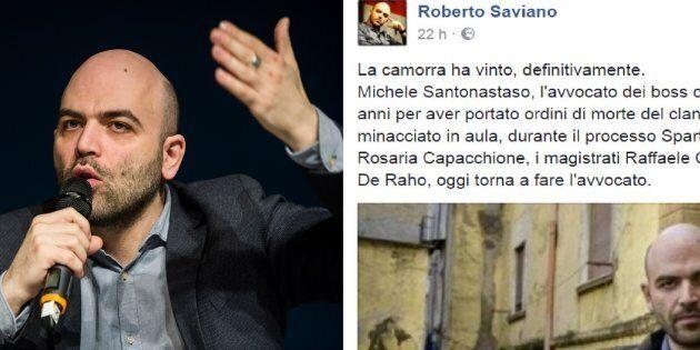 Roberto Saviano sull'avvocato Michele Santonastaso :
