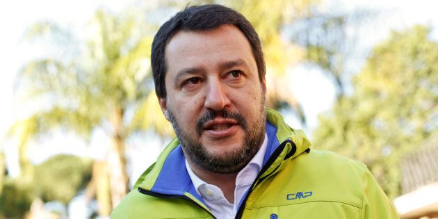 Northern League party leader Matteo Salvini talks during an interview with Reuters in Rome, Italy November...