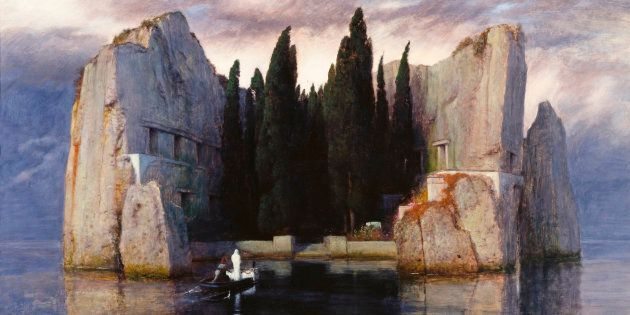 Arnold Böcklin (German, 1827?1901), The Isle of the Dead, 1883, oil on panel, 150 x 80 cm, Alte Nationalgalerie,...