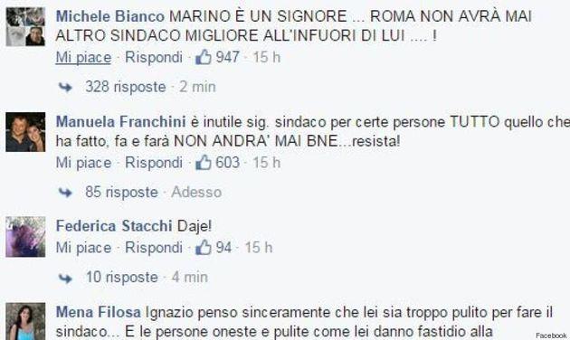 I romani nei social dalla parte di Ignazio Marino: