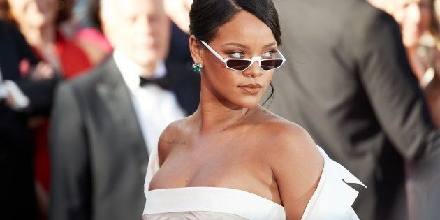 CANNES, FRANCE - MAY 19: Singer Rihanna attends the 'Okja' screening during the 70th annual Cannes Film...