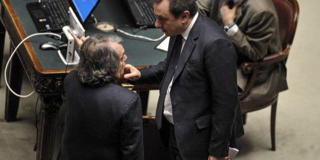Roma, Aula della Camera, nella foto Renato Brunetta ed Ettore