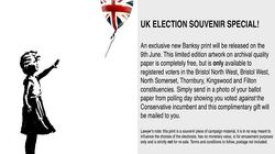 Banksy regala un'opera inedita ma soltanto a chi voterà contro i conservatori di Theresa