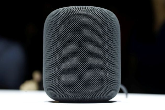 A prototype Apple HomePod is seen during the annual Worldwide Developer Conference (WWDC) in San Jose,...