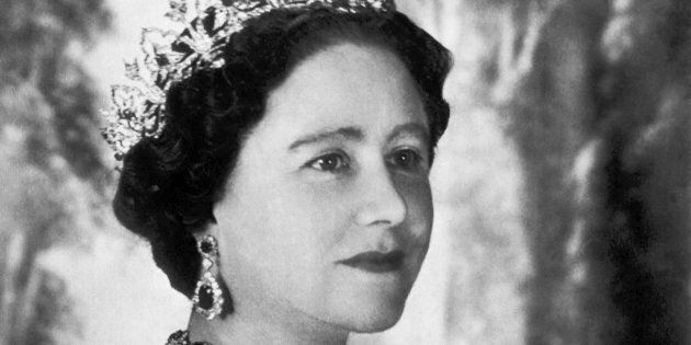 A portrait of Elizabeth Bowes-Lyon, Queen Elizabeth the Queen Mother on her 50th birthday, London, England,...