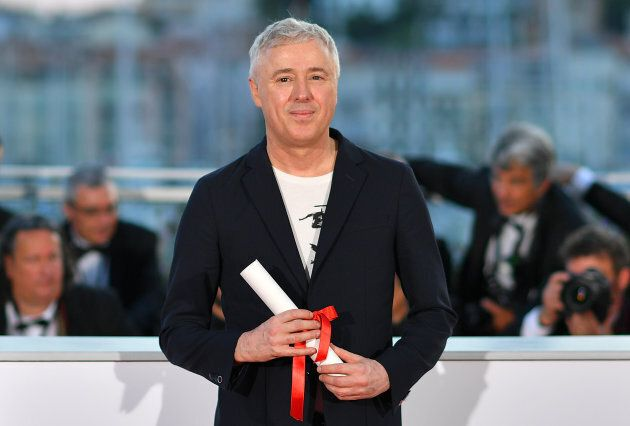 French director Robin Campillo poses on May 28, 2017 during a photocall after he won the Grand Prix for...