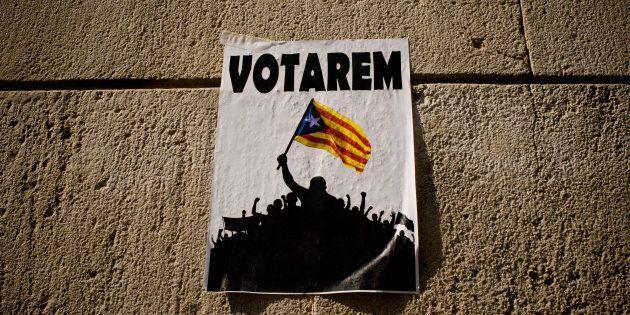 28/09/2017 Barcellona, manifestazione di studenti a favore del referendum per l'indipendenza della Catalogna...