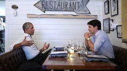 L'intesa tra Obama e Trudeau: occhi negli occhi a cena insieme in un ristorante di